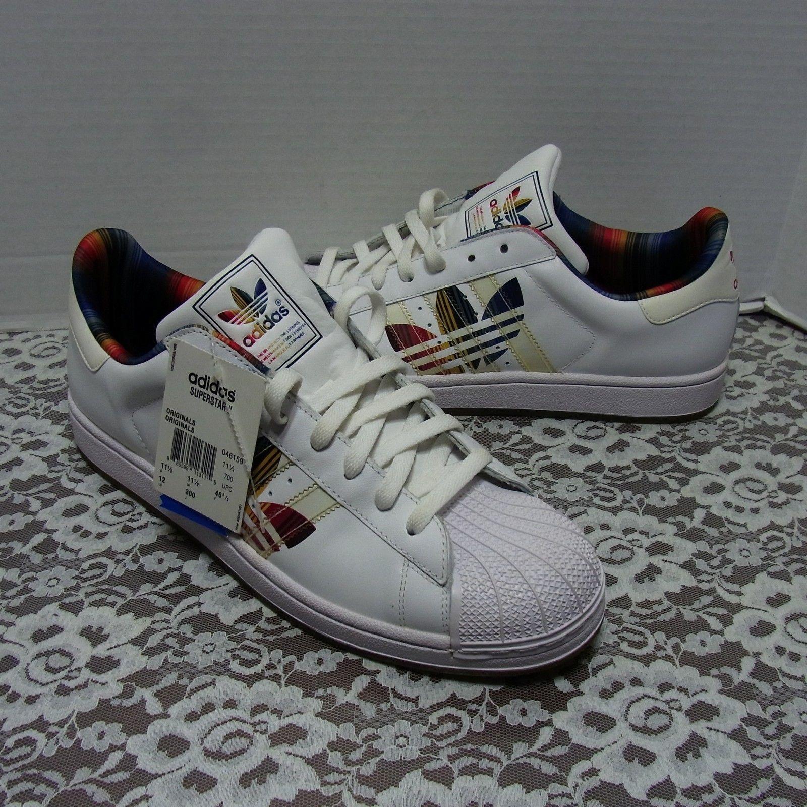 nuove adidas superstar ii 2 originali multi - colore scarpe mens scarpa