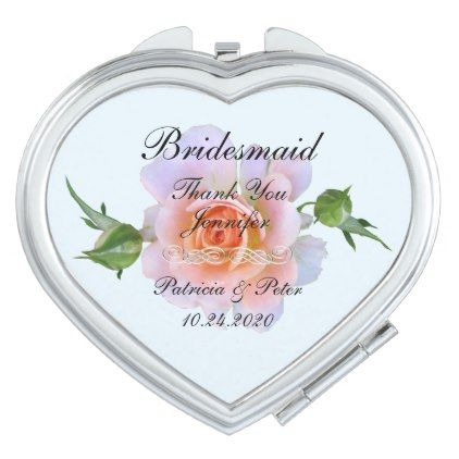Personalized Bridesmaid Fl Vanity Mirror Wedding Thank You Gifts Cards Stamps Postcards Marriage Thankyou