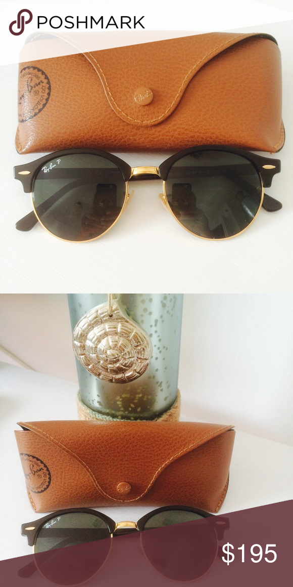 Ray-Ban black and gold sunglasses **NWOT** NEVER BEEN WORN!!!! Ray-ban black and gold sunglasses. Ray-Ban Accessories Sunglasses