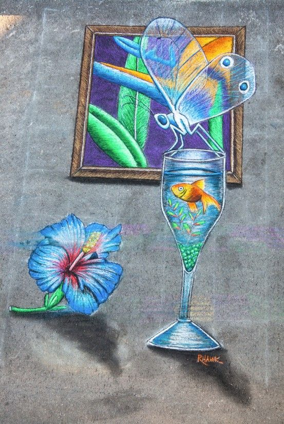 3d Chalk Art From The Great Ron Hawkins At Artfest Fort Myers 2013 3d Chalk Art Chalk Art Sidewalk Chalk Art