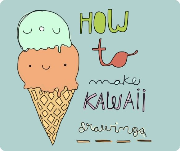 how to draw cute simple kawwii foods