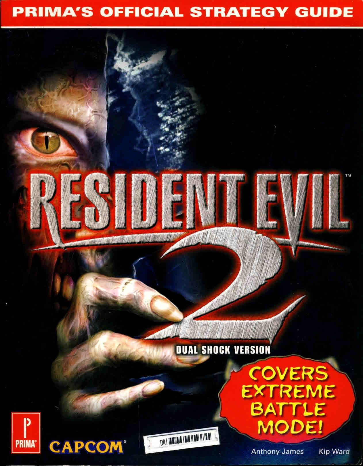 RESIDENT EVIL 2 Dual Shock Version Prima's Official Strategy Guide  ref101002 S1-box2