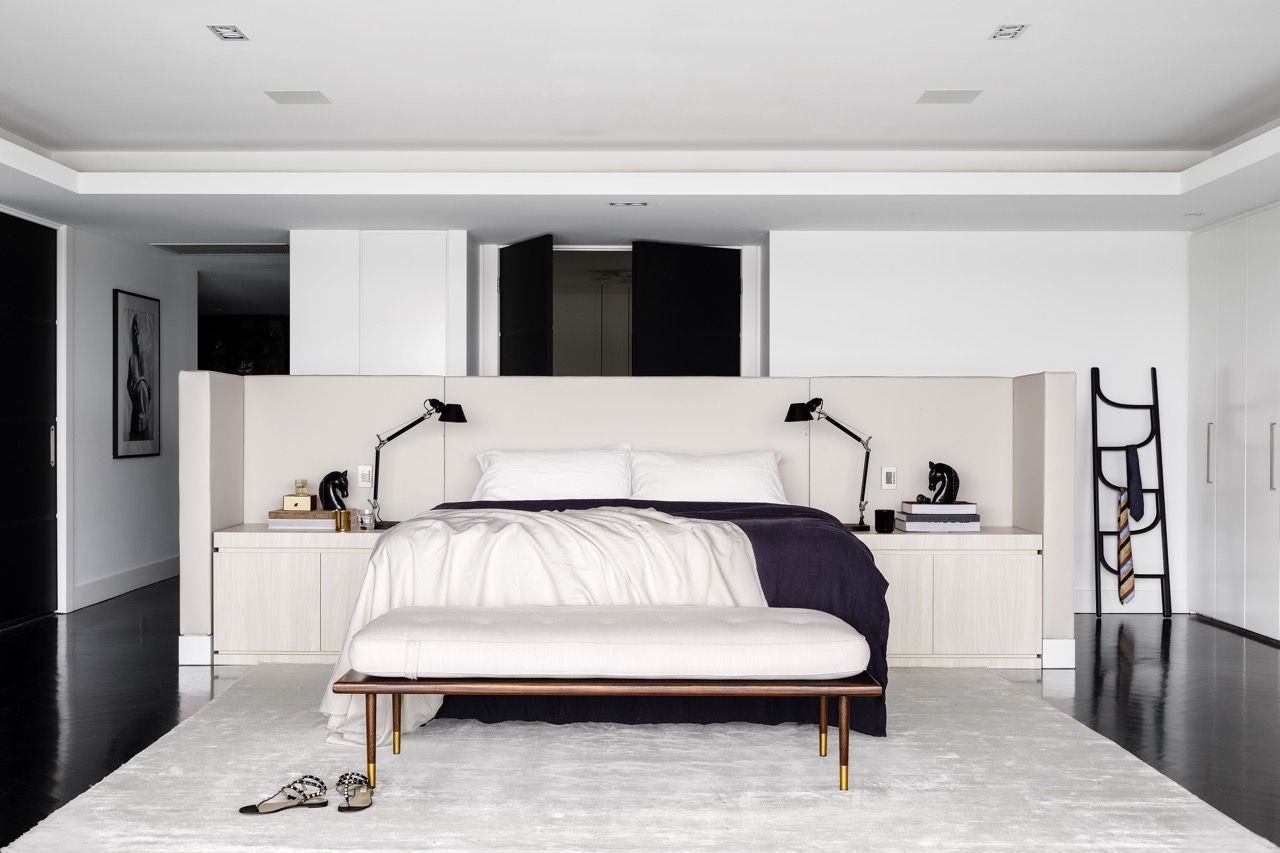Interiors  alwill interiors monochrome bedroom bed  Bedrooms