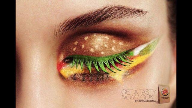 I can see Crystal tying this at her wedding. Cheeseburger make-up.