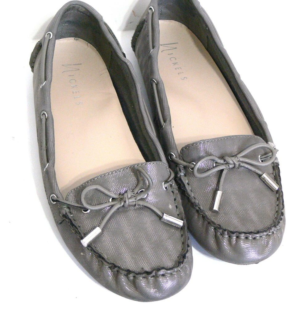 b0252ea17b7 Nickels Womens Driving Shoes Savor Gray Silver Metallic Size 7.5M  Nickels   Drivingshoes