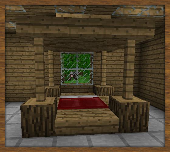 lit baldaquin Minecraft houses, Minecraft room