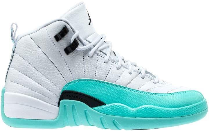 Jordan 12 Retro Light Aqua (GS)   Jordan shoes girls, Shoes ...