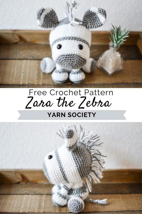 Zebra amigurumi free pattern   Crochet zebra pattern, Crochet ...   750x500