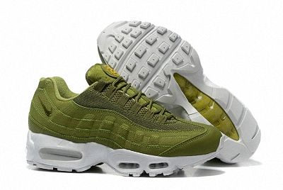 the best attitude 8b7da d15ee Stussy x Nike Air Max 95 Dark Green Army Green White