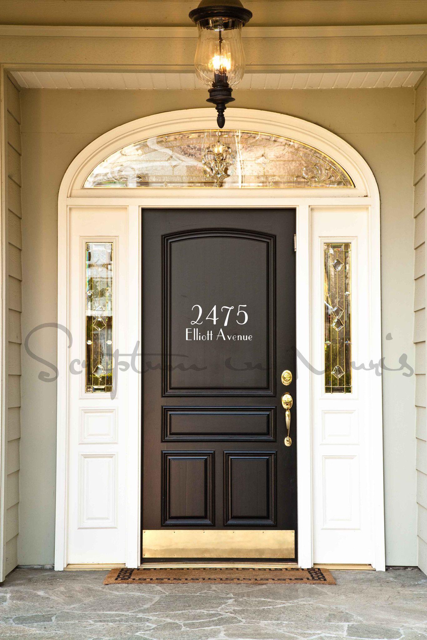 Address House Number With Street Name Vinyl Wall Decal Best Front Door Colors Best Front Doors Door Color