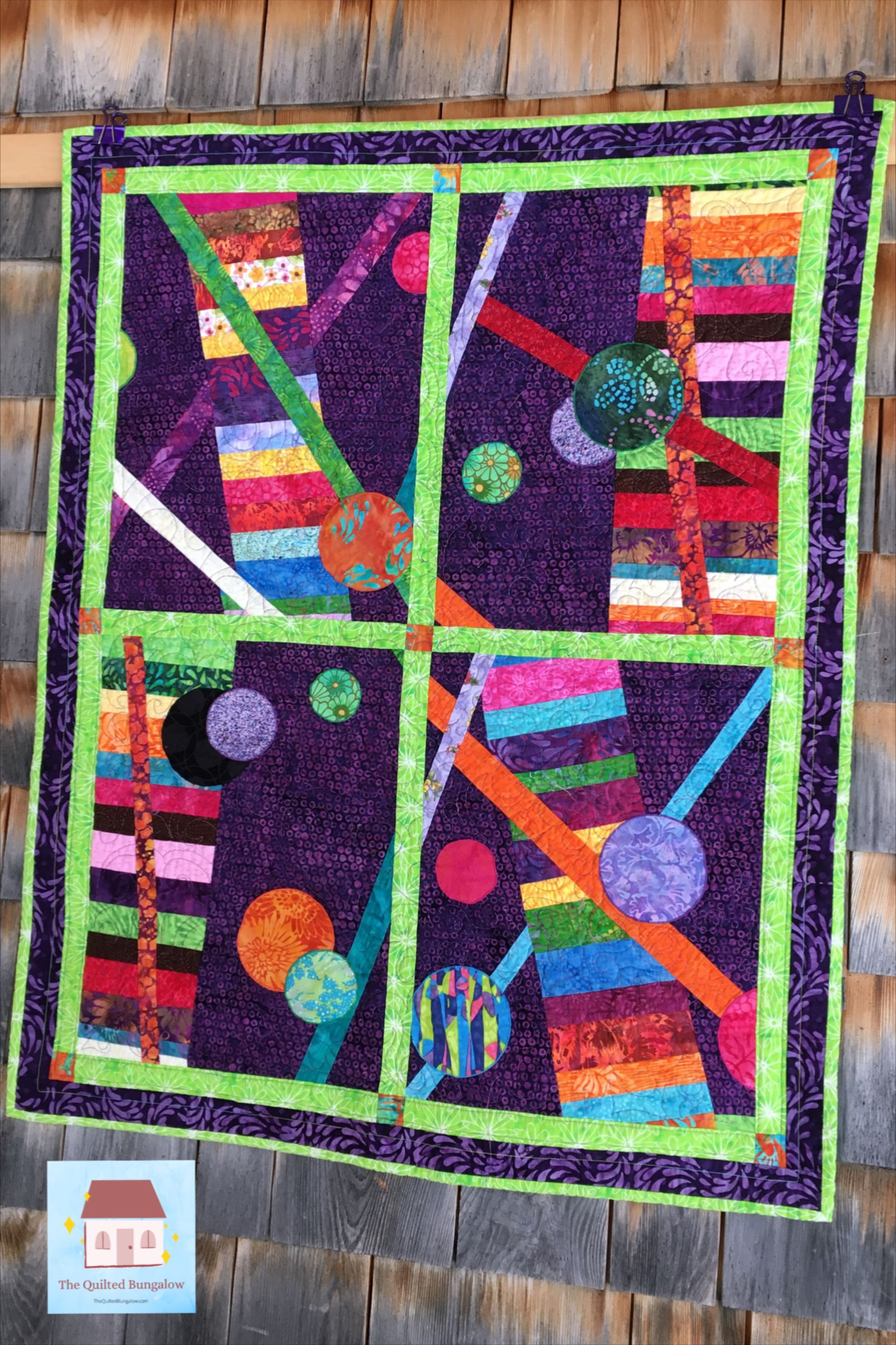 Handmade Quilted Wall Art Wall Hanging Contemporary Wall Etsy In 2020 Fiber Art Quilts Hanging Wall Art Quilted Wall Hangings