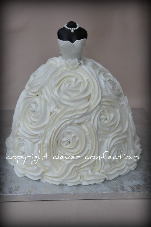 Wedding Dress Bridal Shower Cake...this would be fun to make as any ...