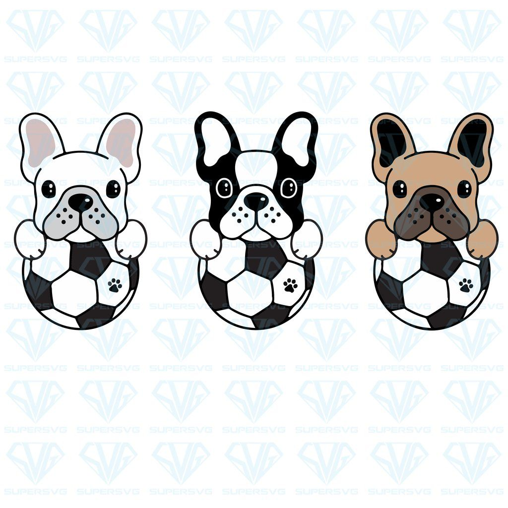French Bulldog Vector Dog Football Bundle Svg Files For Silhouette Files For Cricut Svg Dxf Eps Png Instant Download Supersvg French Bulldog Wallpaper Dog Football French Bulldog