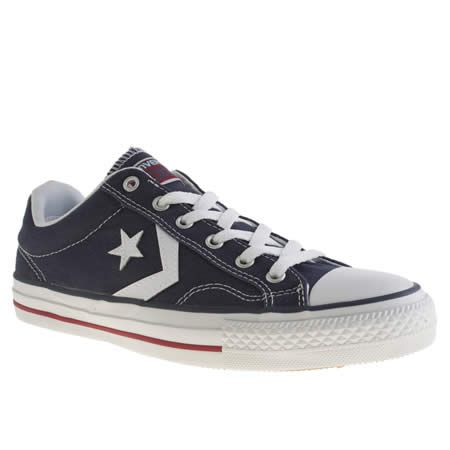 navy & white star player re-mastered, part of the mens converse trainers  range available at schuh