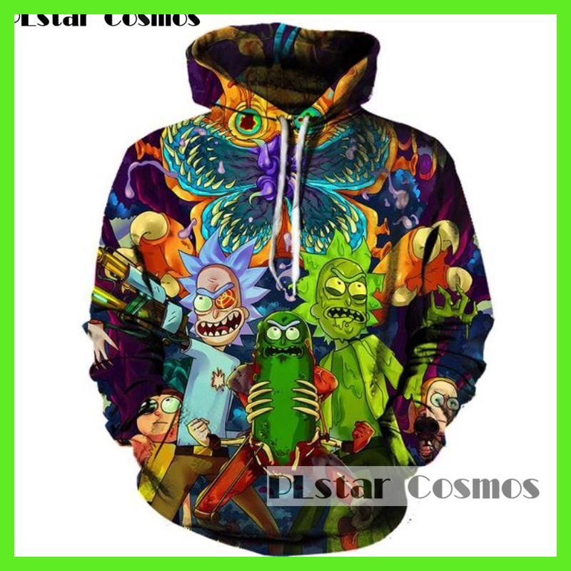 PLstar Cosmos 2017 Fashion Hip hop 3d Hoodies Hot cartoon rick and morty  printed Women Men Hoody Streetwear hooded sweatshirts a4662d19e31