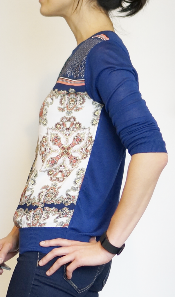 41Hawthorn Zappo Printed Mixed Material Top #stitchfix