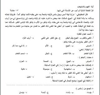 امتحان تشخيصي في اللغة العربية للصف التاسع Math Blog Posts Blog