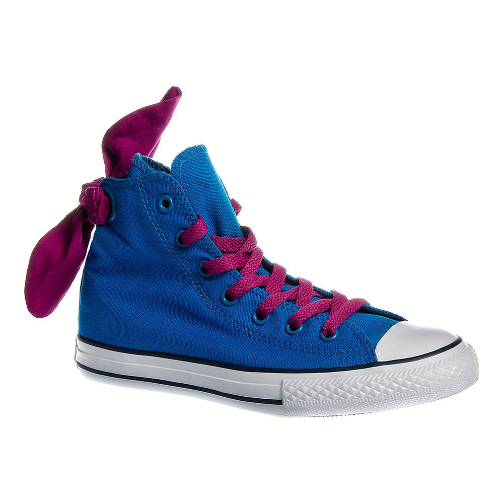 bestia Injusto Sumergido  Converse All Stars Bow Back Kids Hi Top Boot (Cyan Space Blue) New In.. # Bluebanana #converse www.bluebanana.com