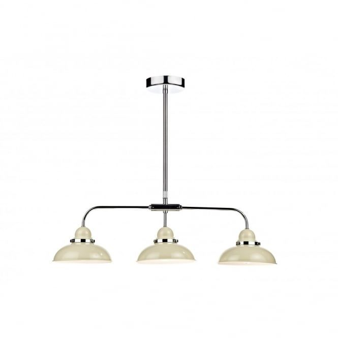 Elegant The Lighting Book DYNAMO Cream U0026 Chrome 3 Light Suspended Bar Pendant Code:  DAR