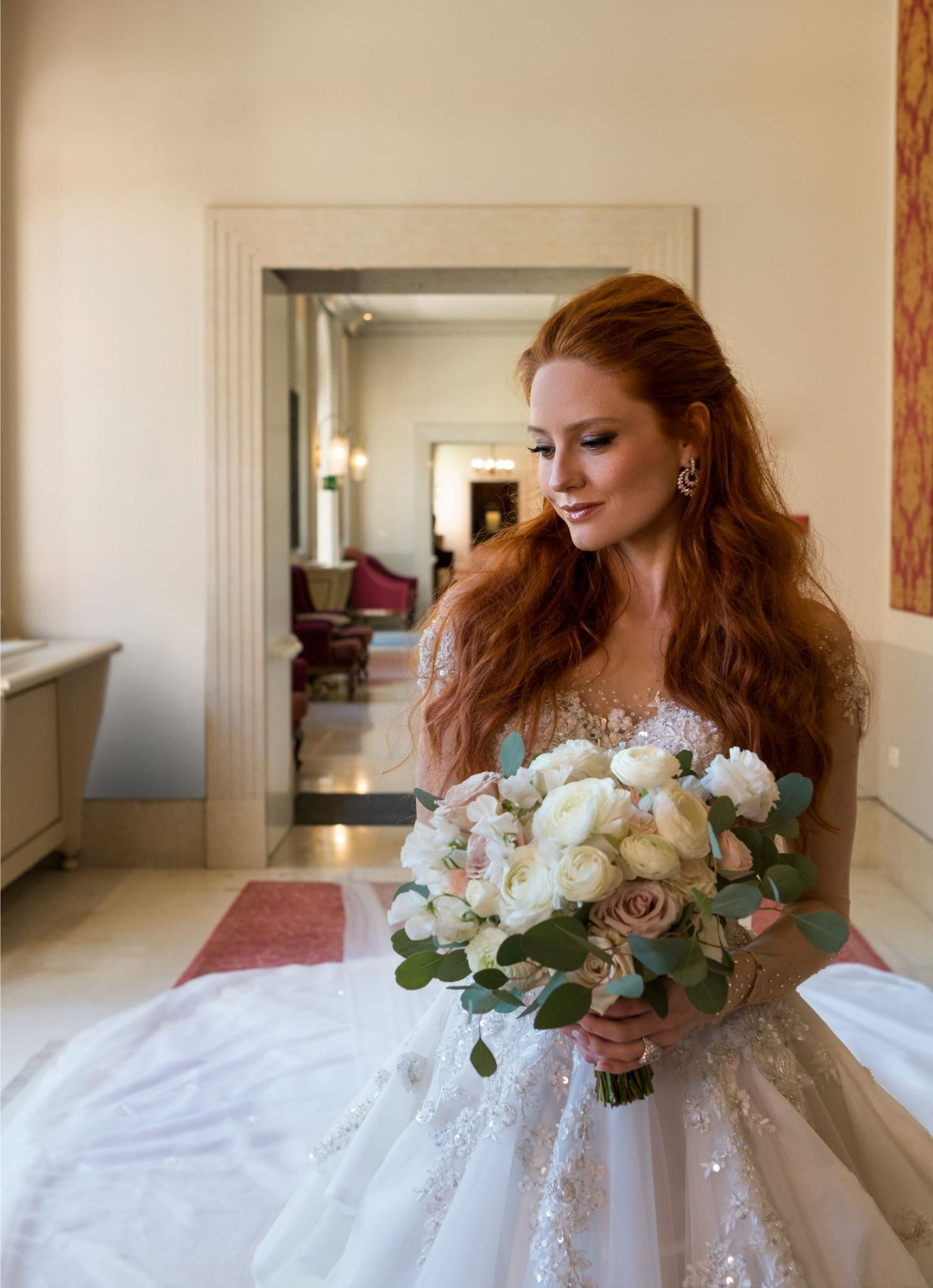 Bride Of The Week Barbara Meier Celebrity Bride Bride Galia Lahav Wedding Gowns