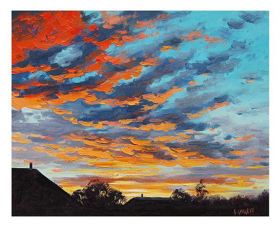Sunset Oil Painting Sunrise Painting Rural Farm Landscape Artwork By Graham Gercken Sunrise Painting Sunset Painting Landscape Artwork