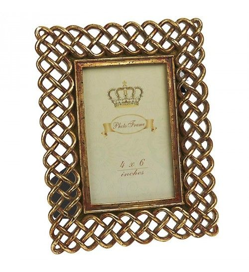 Polyresin Frame In Antique Gold Color 10x15 Frame Antique Gold Gold Color