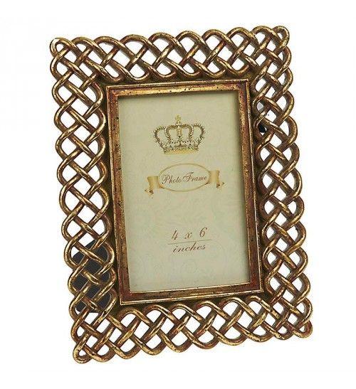 Polyresin Frame In Antique Gold Color 10x15 Frame Antique Gold Gold Color