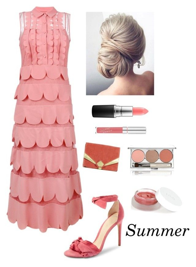 """""""Summer Formal Event"""" by kotnourka ❤ liked on Polyvore featuring Alexandre Birman, RED Valentino, Mathilde 2C, rms beauty, Chantecaille and MAC Cosmetics"""