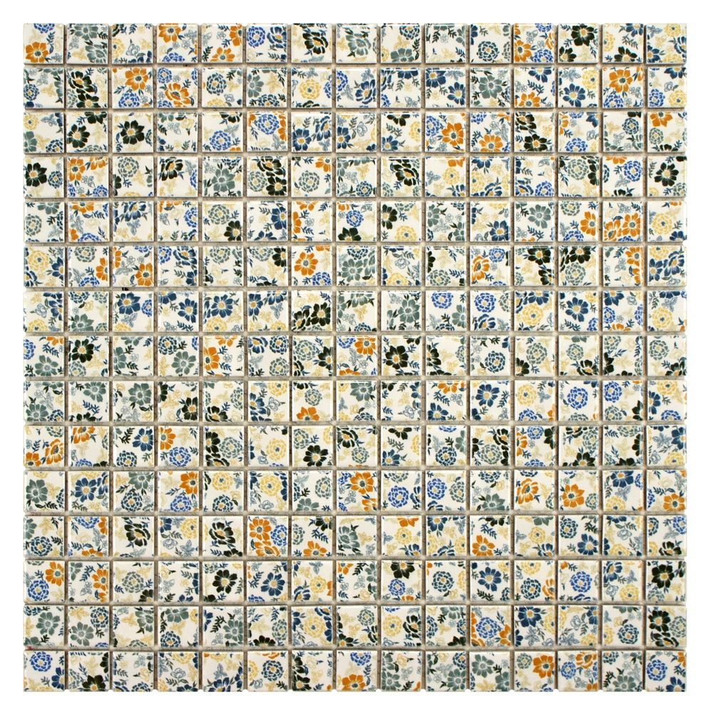 Somertile 12x12 Inch Spring Flora Porcelain Mosaic Floor And Wall Tile 10 Tiles 10 21 Sqft Mosaic Tiles Wall Tiles Tiles