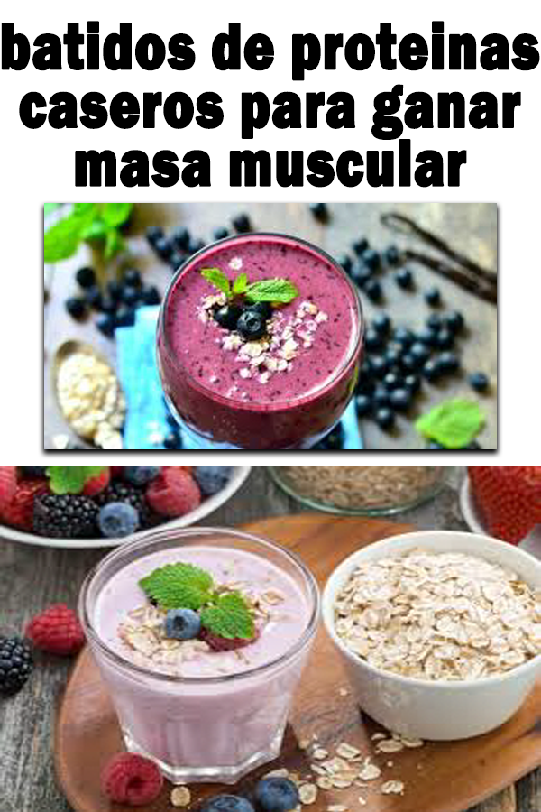 receta batido de proteinas casero para adelgazar