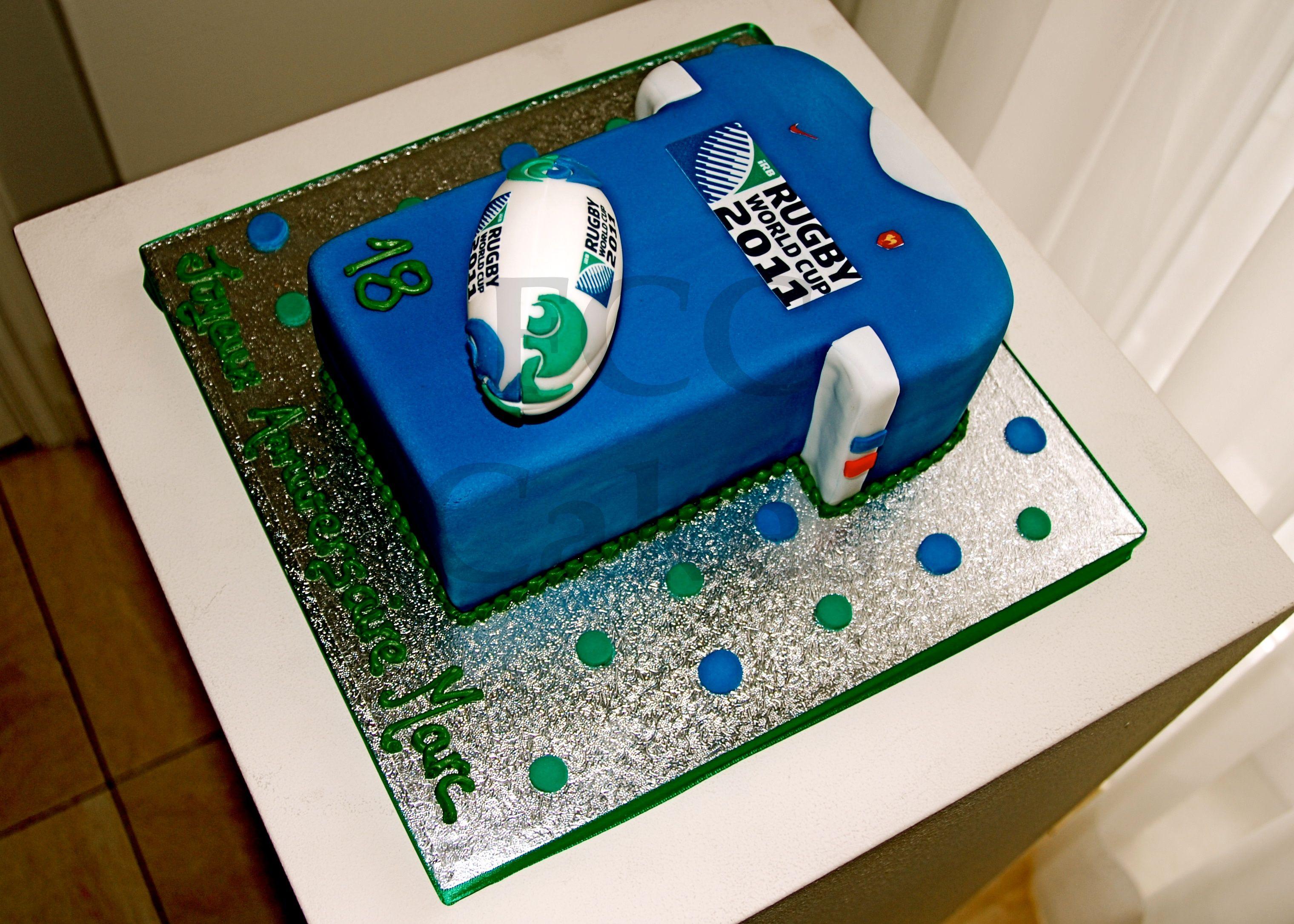 sporty cake rugby gateau d 39 anniversaire sport rugby verjaardagstaart sport rugby anniv gia. Black Bedroom Furniture Sets. Home Design Ideas