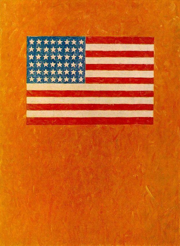 Flag On Orange Field Jasper Johns Jasper Johns Flag Art Flag
