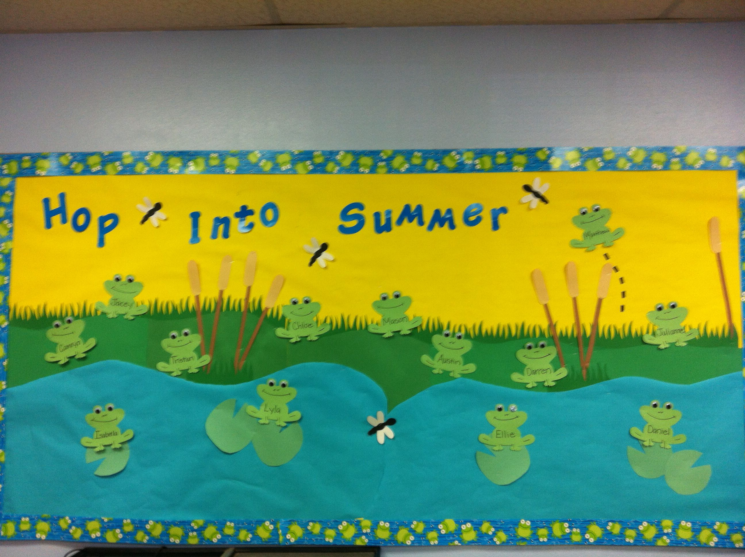 Frog Bulletin Board Preschool