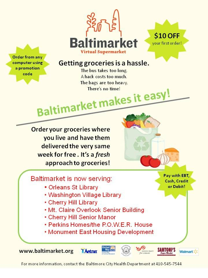 Baltimarket with images first order affordable food