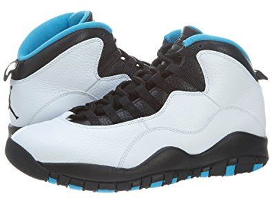 08cc4de60bcff0 Nike Mens Air Jordan Retro 10 White Dark Powder Blue-Black Leather Basketball  Shoes Size 12 Review