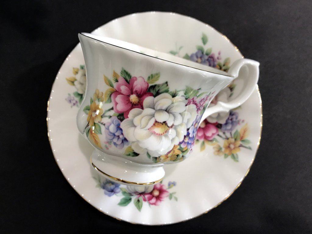 Royal Albert Summertime Series Teacup Sherborne Bone China Tea  ~ Tazas Para Infusiones El Corte Ingles