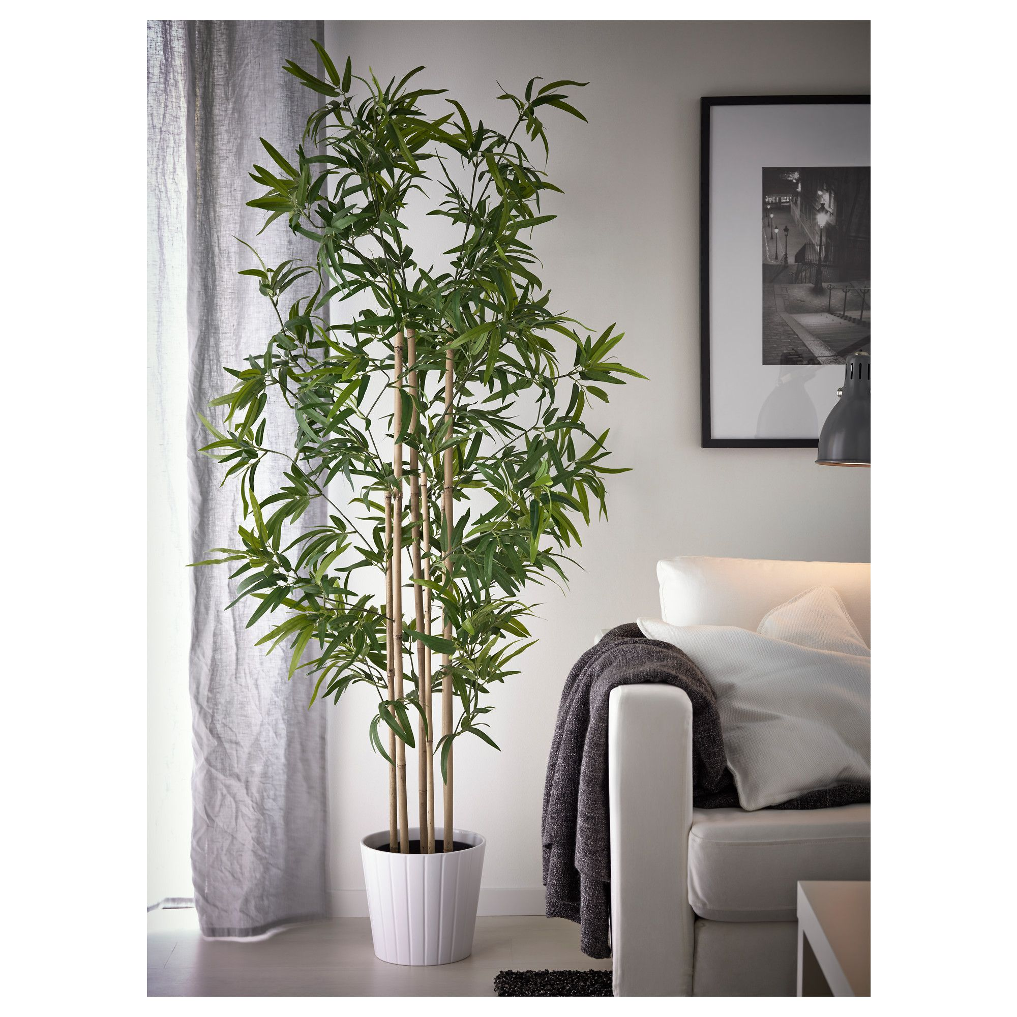 fake plants for living room fejka artificial potted plant bamboo 21 cm living rooms 18103