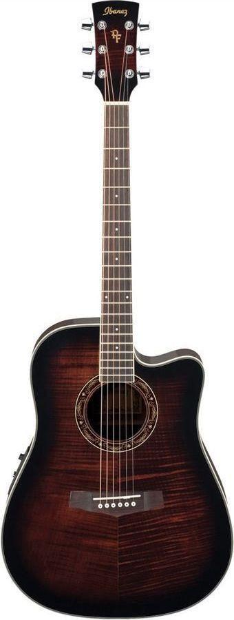 ibanez pf28ece dvs performance acoustic electric guitar vintage sunburst vintage guitars. Black Bedroom Furniture Sets. Home Design Ideas