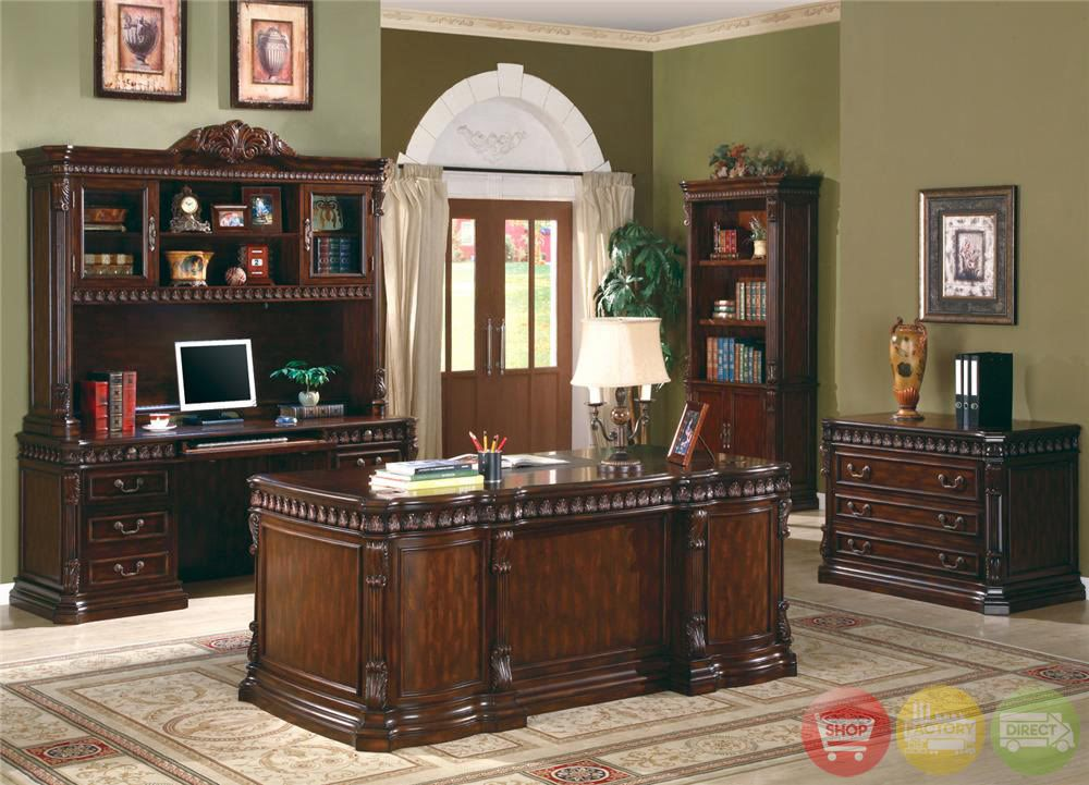 Union Hill Dark Brown Solid Wood Executive Home Office Furniture Set Coaster  800800. Union Hill Dark Brown Solid Wood Executive Home Office Furniture