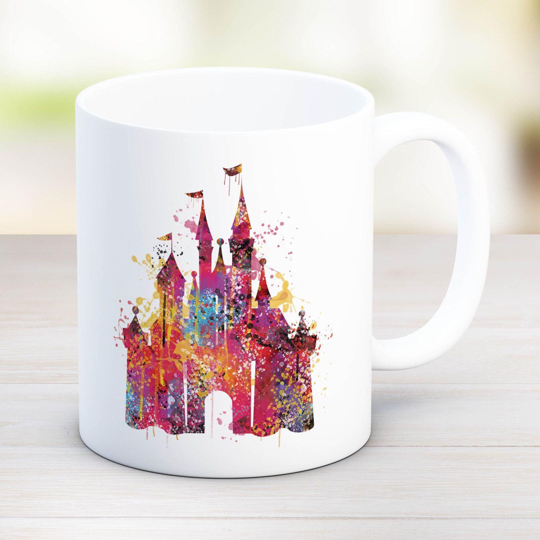 Disney Castle Watercolor Mug Disney Wedding Watercolor Mug