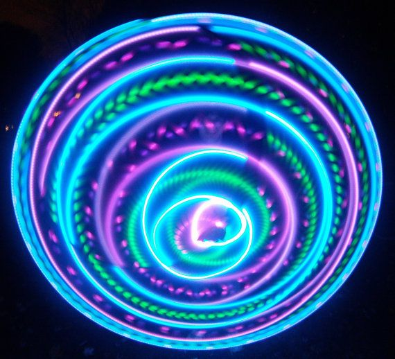 FREE SHIPPING  Hybrid LED Hula Hoop  Vibrant by ElectricLifeStylz, $70.00