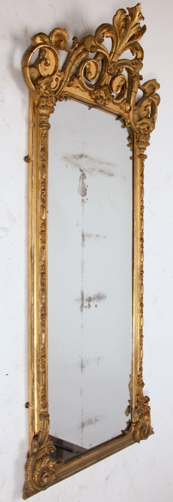 Circa 1870 S Victorian Pier Mirror