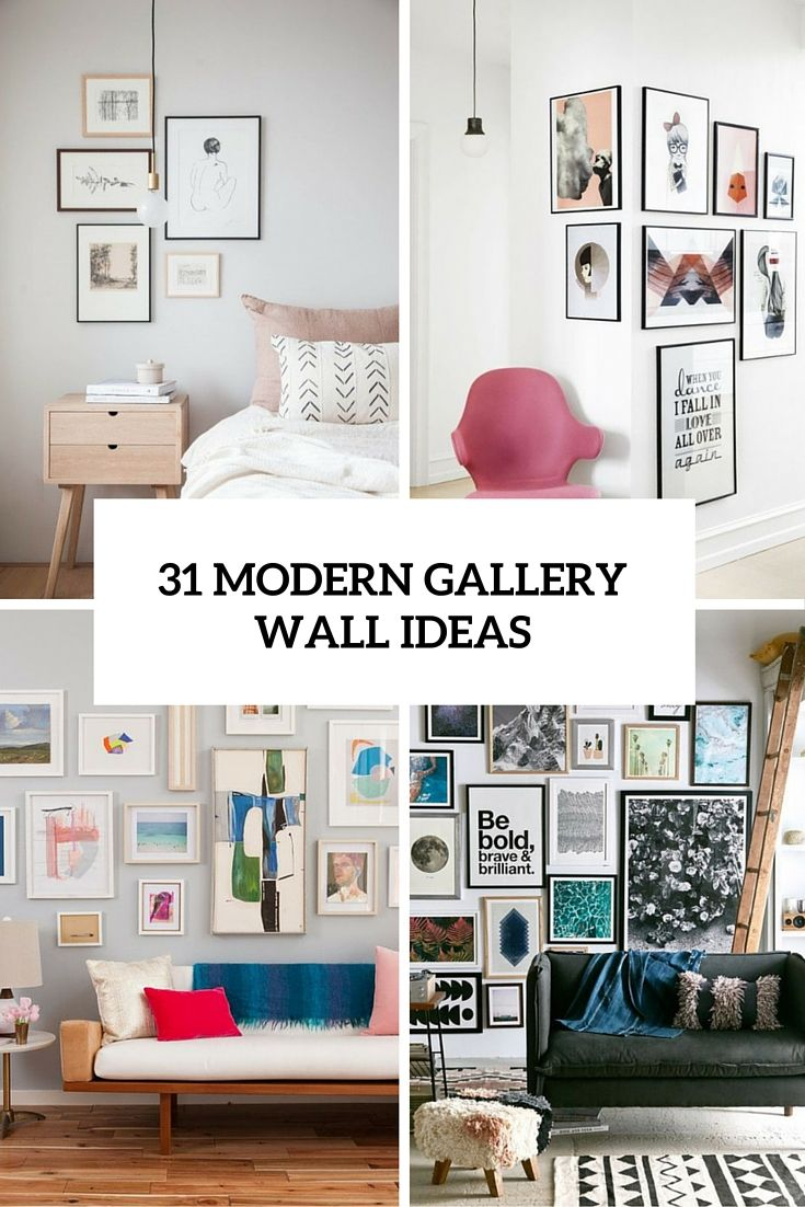 31 Modern Photo Gallery Wall Ideas Shelterness Living Wall Decor Wall Decor Living Room Modern Modern Gallery Wall