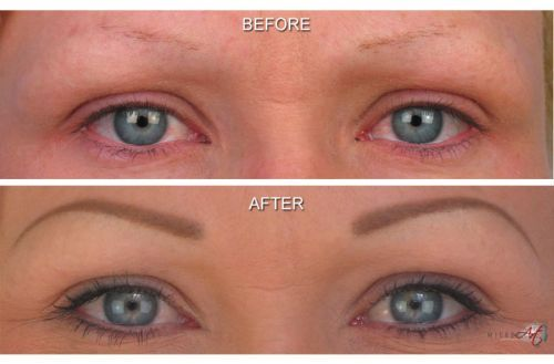 Semi or Easy Eyebrow Tattoo – Cost And Before After Photos | Makeup ...