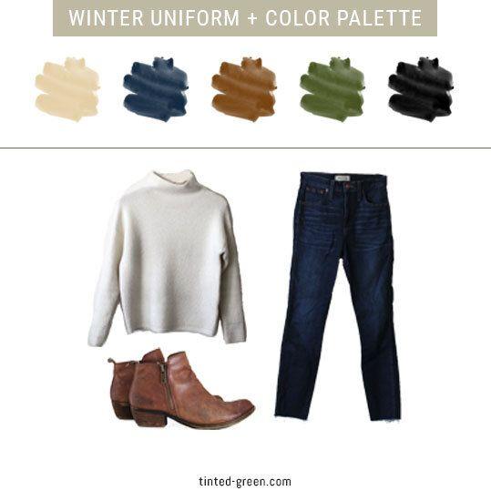 my winter 2017 capsule wardrobe color palette + un