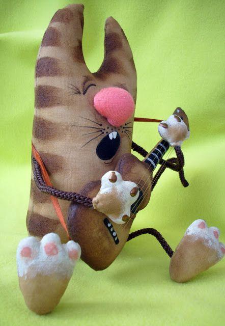 Кофейная игрушка: кот с гитарой. Мастер-класс. Часть 2 ...