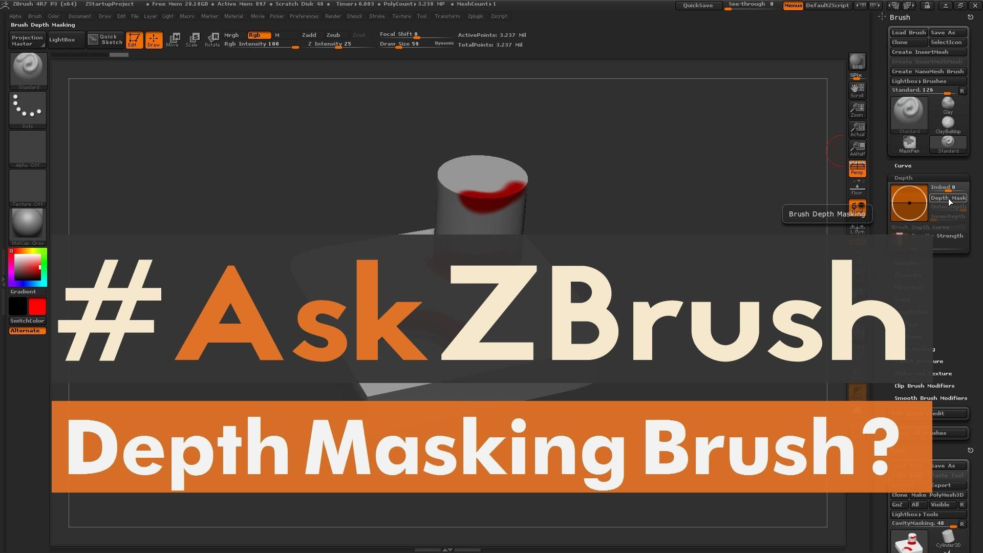 "#AskZBrush: ""How can I make a depth masking brush for concave and convex..."