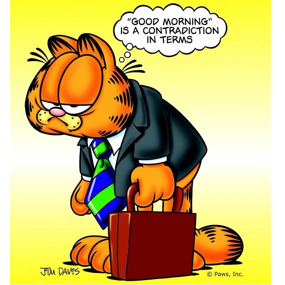 Ugh Its Monday Garfield And Odie Garfield Cartoon Garfield