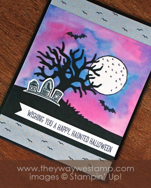 www.thewaywestamp.com Spooky Fun Bundle by Stampin' Up! for the Team Stamp It Halloween Blog Hop and Giveaway #thewaywestamp #teamstampit #stampinup #spookyfun #glampergreetings #juliedeguia