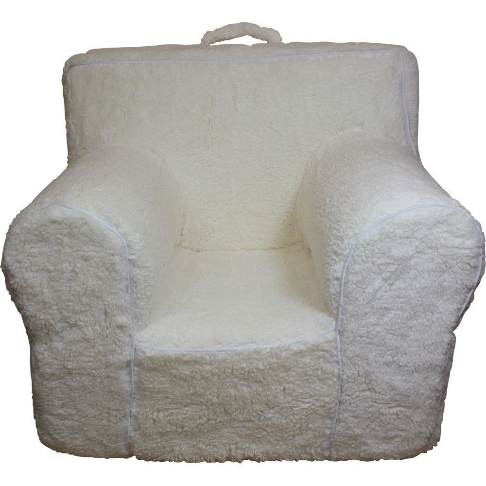 Cream Sherpa Chair Cover For Foam Childrens Chair